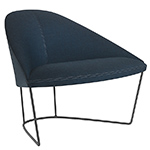 colina lounge chair with sled base  -