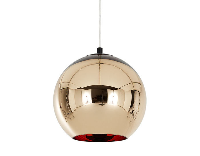 copper shade suspension lamp