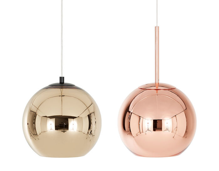 copper shade suspension lamp. Black Bedroom Furniture Sets. Home Design Ideas