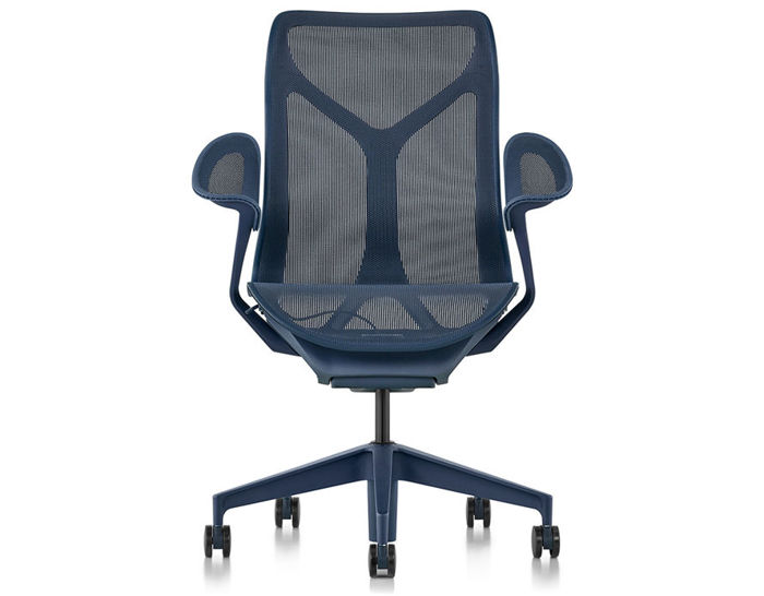 cosm mid back task chair dipped in color