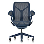 cosm mid back task chair dipped in color  -