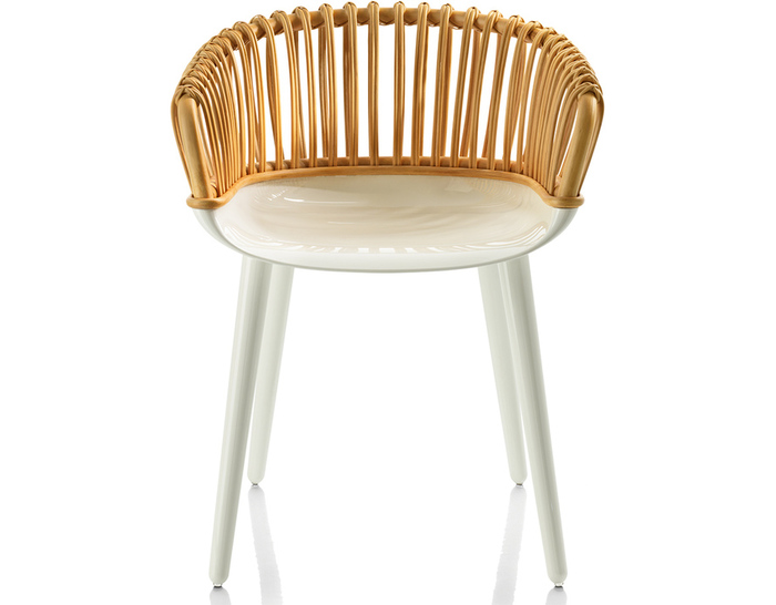 cyborg club armchair with wicker back