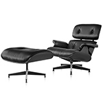 ebony eames® lounge chair & ottoman  -