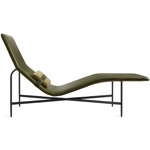 deep thoughts leather chaise lounge  -