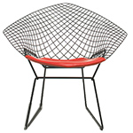 bertoia small diamond chair with seat cushion  -