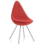 drop chair upholstered - Arne Jacobsen - Fritz Hansen