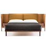 dubois low queen size bed with side tables 112aq  -