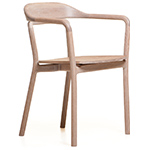 duet chair with timber seat 753  -