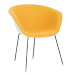 duna 02 four leg chair with front upholstery - Altherr & Molina Lievore - arper