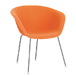 duna 02 four leg chair fully upholstered - Altherr & Molina Lievore - arper