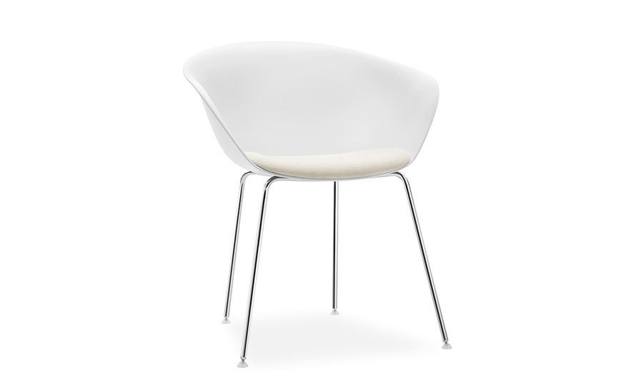 duna 02 four leg chair with seat cushion