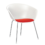 duna 02 four leg chair with seat cushion - Altherr & Molina Lievore - arper