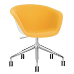 duna 02 five star base chair with front upholstery - Altherr & Molina Lievore - arper