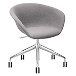 duna 02 five star base chair with full upholstery - Altherr & Molina Lievore - arper