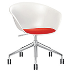 duna 02 five star base chair with seat cushion - Altherr & Molina Lievore - arper