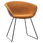 duna 02 sled base chair with front upholstery  -