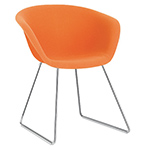 duna 02 sled base chair with full upholstery