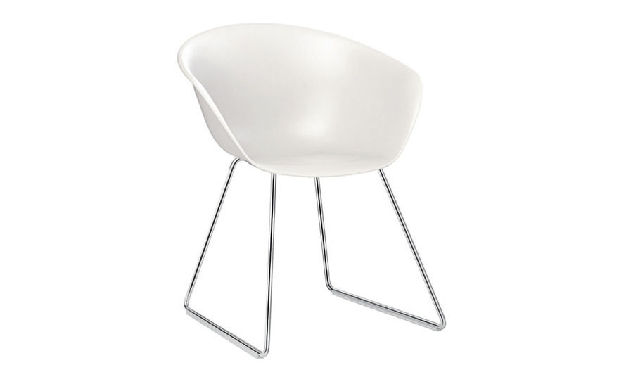 duna 02 sled base polypropylene chair