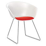 duna 02 sled base chair with seat cushion  -