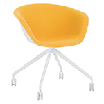 duna 02 trestle base chair with front upholstery  -