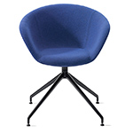 duna 02 trestle base chair with full upholstery