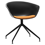 duna 02 trestle base chair with seat cushion  -