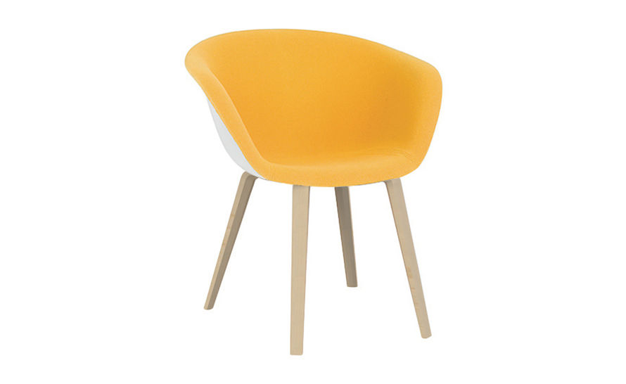 duna 02 wood leg chair with front upholstery