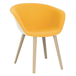 duna 02 wood leg chair with front upholstery - Altherr & Molina Lievore - arper