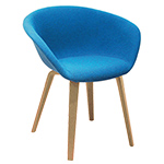 duna 02 wood leg chair with full upholstery - Altherr & Molina Lievore - arper