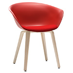 duna 02 wood leg chair with seat cushion - Altherr & Molina Lievore - arper