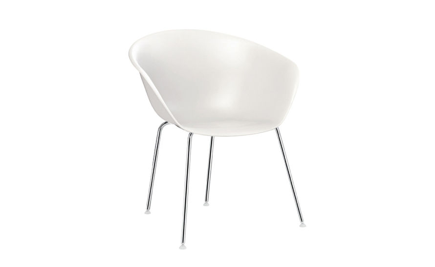 duna 02 polypropylene chair with 4 leg base