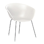 duna 02 polypropylene chair with 4 leg base  -
