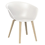 duna 02 polypropylene chair with wood legs  -