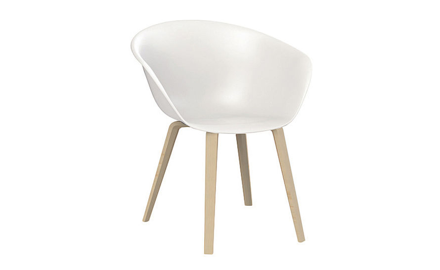 duna 02 polypropylene chair with wood legs