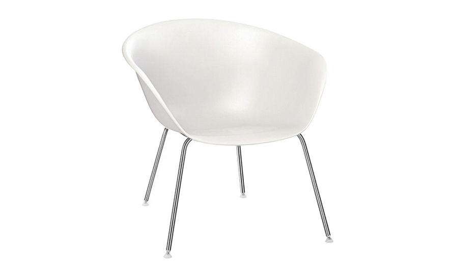 duna 02 polypropylene lounge chair with 4 leg base