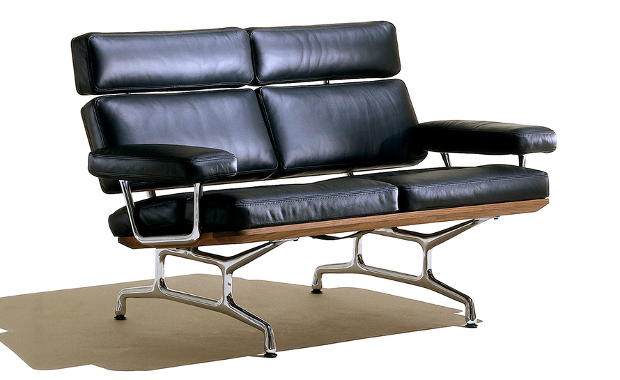 Eames 2 seat sofa for 2 seater chaise sofa for sale