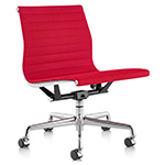 eames&reg aluminum group management chair with no arms  -