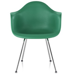 eames® molded plastic armchair with 4 leg base  -
