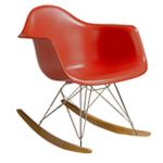eames® molded plastic armchair with rocker base  -