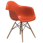 eames® molded plastic armchair with dowel base  -
