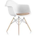 eames® dowel base armchair with seat pad - Eames - Herman Miller