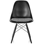 eames® dowel base wood side chair with seat pad  -