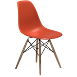 eames® molded plastic side chair with dowel base  -