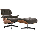 eames lounge chair & ottoman in mohair - Eames - Herman Miller
