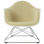 eames® upholstered armchair with low wire base  -