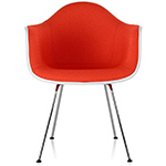 eames® upholstered armchair with 4 leg base