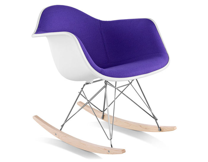 Eames 174 Upholstered Armchair With Rocker Base Hivemodern Com