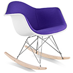 eames® upholstered armchair with rocker base
