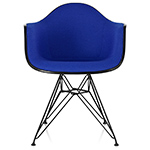 eames® upholstered armchair with wire base