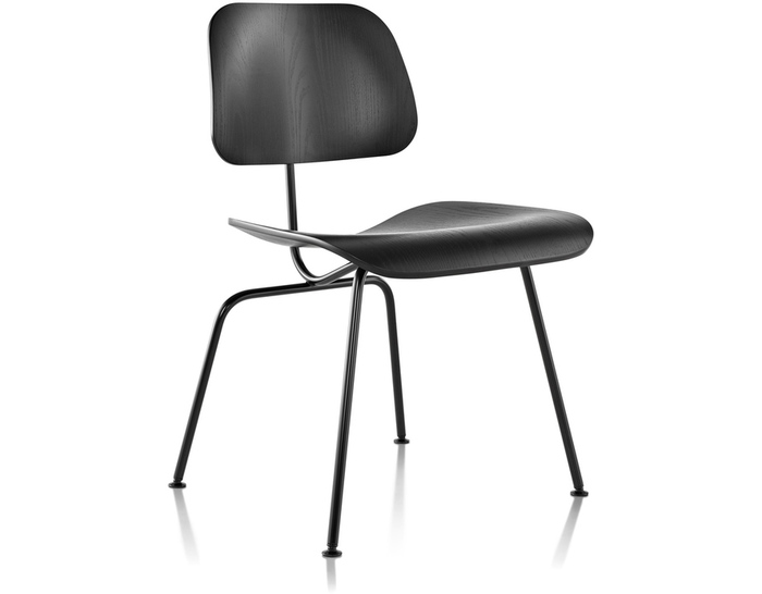 eames® molded plywood dining chair dcm